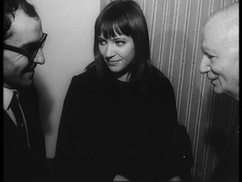 Jean-Luc Godard and Anna Karina meet Carl Th. Dreyer (1966)