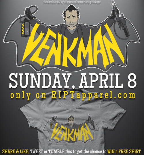 AVAiLABLE from RiPTapparel on Sunday, April 8 for $10 and 24hrs ONLYWanna WiN this SHiRT? head over to my facebook to see how to enter!