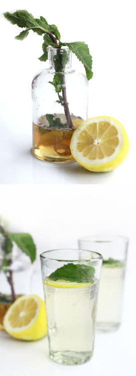 saltairandfarm:  (via Nectar) PROSECCO SPARKLER WITH MINT, LAVENDER AND LEMON 1 cup water1 cup sugar1/2 cup mint leaves, loosely packed3/4 teaspoon dried lavender3 strips of lemon peel, using a vegetable peeler1 bottle of Italian proseccoclub soda In a small saucepan, bring water, sugar, mint, lavender and lemon peel to a simmer until all sugar is dissolved.  Allow to cool and strain syrup through a sieve, discard remaining mint, lavender and lemon peel.  Syrup can be made ahead and refrigerated.  Will last for up to 2 weeks.Fill small glasses or champagne flutes 2/3 full with prosecco.  Add in 1 to 2 teaspoons of simple syrup depending on desired sweetness.  Top off with club soda and serve.