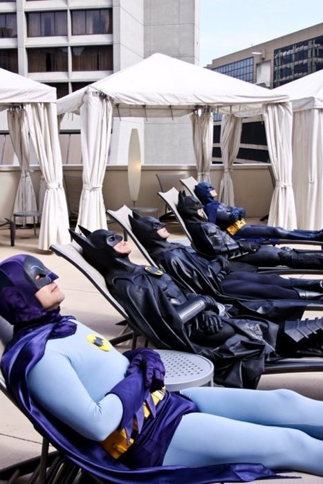 Batman needs vacations too!