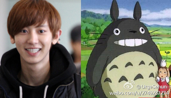 chanyeol animated smile one piece x tororo