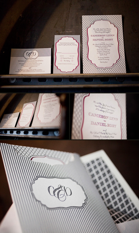 Design Contest First Place Winner: Custom Dawson Wedding Invitations from Creative Touch! | Eco-friendly letterpress inspiration | Smock @smockpaper.com