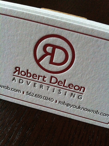 Dolce Press :: Robert DeLeon Advertising Letterpress Cards @dolcepress.com