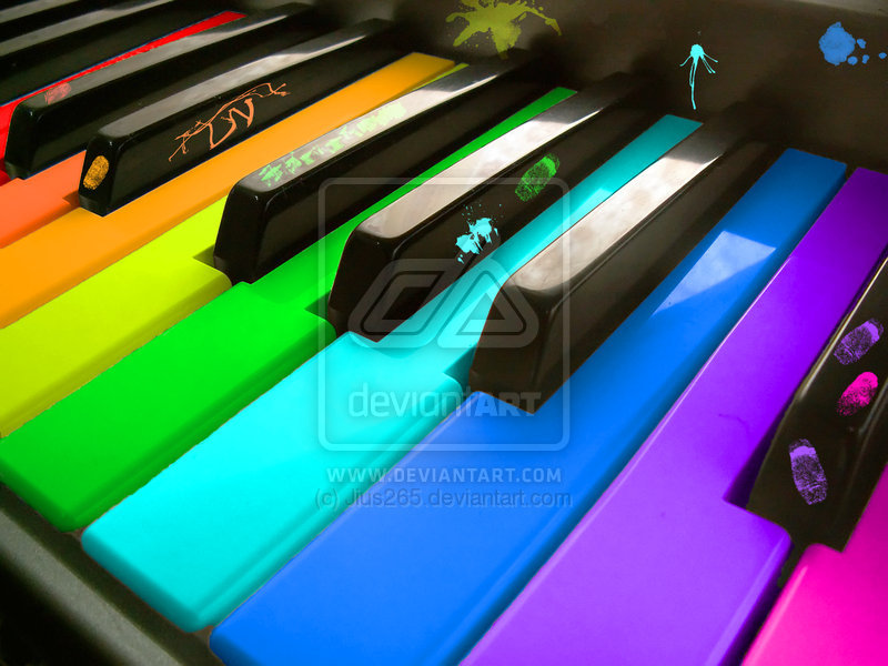 Rainbow Piano by ~Jius265