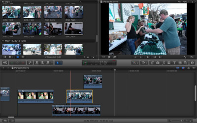 Working on a video of the best St. Patricks Day party at the best Irish Channel bar in the world.  Thank you free demo of Final Cut Pro!