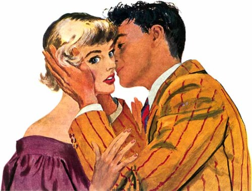 """Flirting Season"", Saturday Evening Post, 1950 Illustration by Gilbert Bundy"