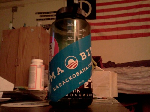 My sticker got here… I promptly put it on my Nalgene bottle.