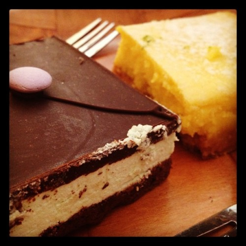 Baked: Grasshopper Pie and Lemon Lime Bar (Taken with instagram)
