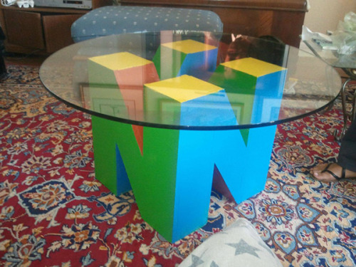 Nintendo 64 Coffee Table Via:  playeronepressstart taken from wagamamaya.