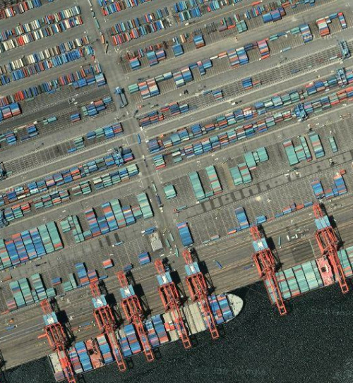 Container port, Long Beach, California, US. From Curating the globe, Part 1 at refractal.