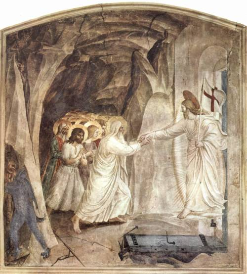 inspiredprocrastination:  Holy SaturdayThe Harrowing of Hell, Fra Angelico