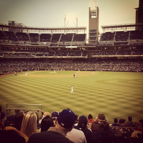 Dodgers vs Padres at Petco Park (Taken with instagram)
