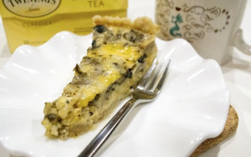 "mysecretrecipebook:  Delicious Mixed Mushroom Quiche Here's another recipe for mushroom lovers!  INGREDIENTS: 10 g oyster mushroom 10 g white button mushroom 10 g crimini mushroom 1 pack Enokitake mushroom salt and pepper 3 eggs 1 onion 2 cups milk/ heavy cream 2 tbsp butter 1 tbsp garlic pastry sheet 10 oz cheese DIRECTIONS: 1. In a pan, heat / melt the butter 2. Saute onion and garlic first 3. Dice and coarsely chop the mushrooms 4. Add mushrooms to the pan and saute till brown 5. Add in salt and pepper into the mushrooms 6. In a bowl, whisk eggs 7. Mix thoroughly egg, cream and mushrooms together 8. Line a pan with pastry sheets 9. Pout prepared mixture into  pan 10. Bake at 300""C - 350""C for an hour  Definitely making this again soon! F.rona A.kil"