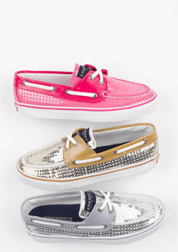 Sequin Sperrys - $75.50
