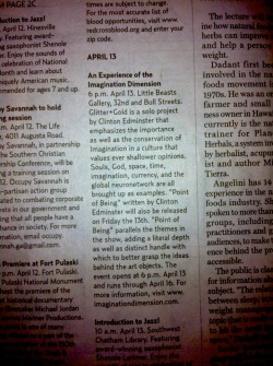 From the Savannah Morning News, April 6th, 2012