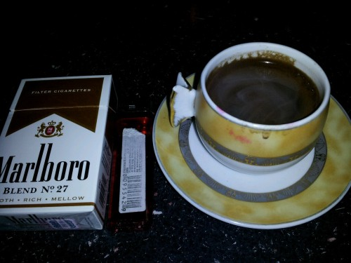 Turkish coffee and cigarettes