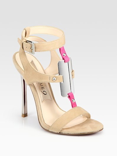 Boutique 9 - Detective Suede T-Strap High-Heel Sandals