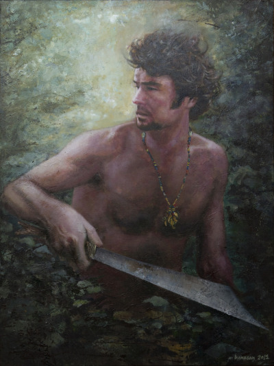 Louis Heussaff, Acylic on canvas, 4' x 3'