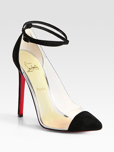 Christian Louboutin Opaque Suede-Trim Point Toe Pumps