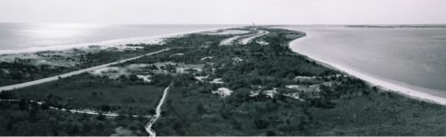Panoramic from Fire Island Lighthouse. Original pics were film, then scanned and photoshopped as a panoramic.