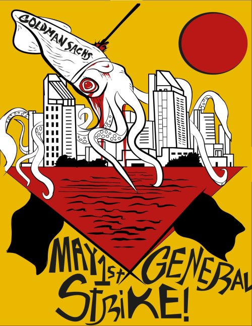 #MayDay #M1GS poster art by one of our extremely talented #occupySD participants!