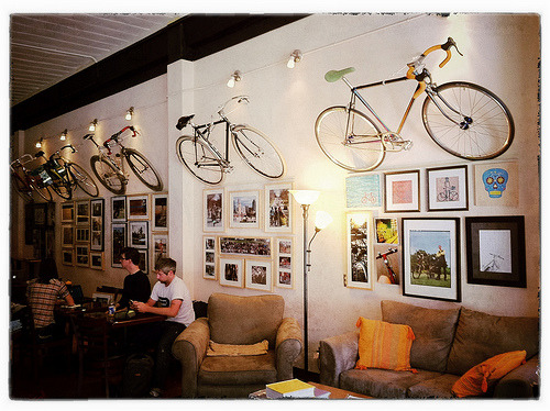 bisikleta:  Bikes are up, Art is up! (by Sam Bennett)
