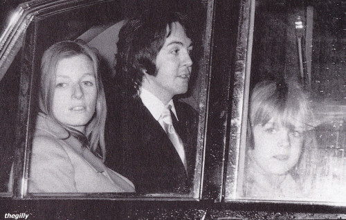 Paul and Linda's wedding day, 12 March 1969.