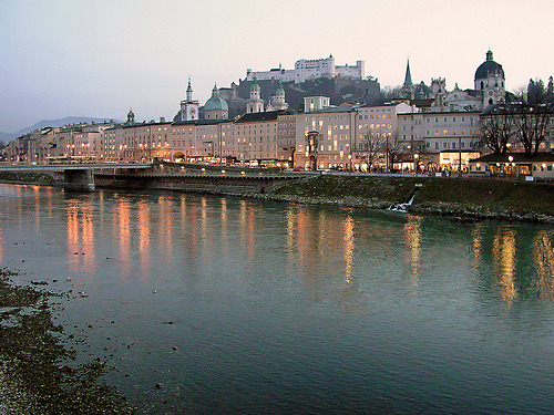 allthingseurope:  Sunset in Salzburg, Austria (by rotraud_71)