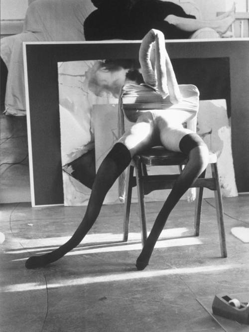Black and White Bunny #2 by Sarah Lucas, 1997