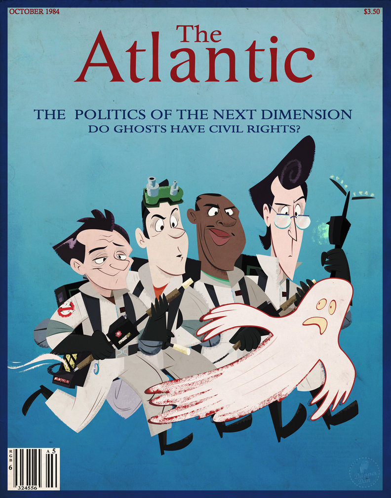 theatlantic:  theluoma:  The Atlantic Ghostbusters Cover  !!!  Reblog because Ghostbusters.