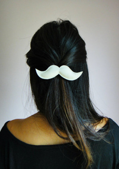 DIY Leather/Suede Moustache Hair Piece! *can also substitute leather for felt
