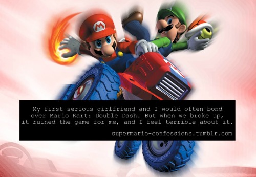 """My first serious girlfriend and I would often bond over Mario Kart: Double Dash. But when we broke up, it ruined the game for me, and I feel terrible about it."""