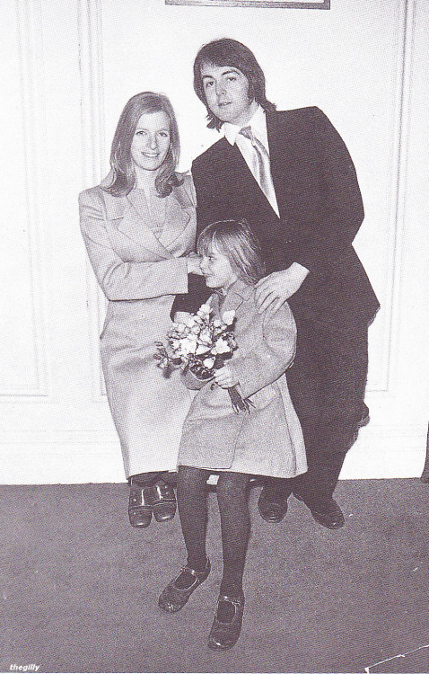 Paul and Linda's wedding, 12 March 1969.
