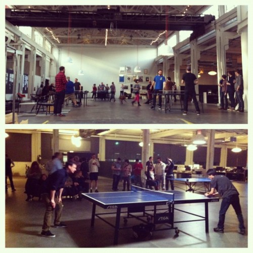 First and last games. @phonghho forever. #instrumentoutpost #pingponginvitational (Taken with instagram)