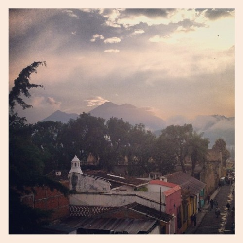 Fuego and Acatenango volcanoes (Taken with instagram)