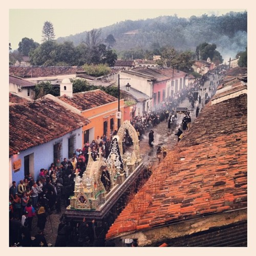 Procession view from rooftop (Taken with Instagram at Antigua, Guatemala)