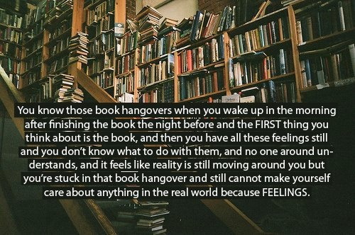 kicksandgiggles:  jennyowenyoungs:  Ugh, BOOKS.   Best/worst feeling ever.  Sometimes I feel this way after I leave the Internet.