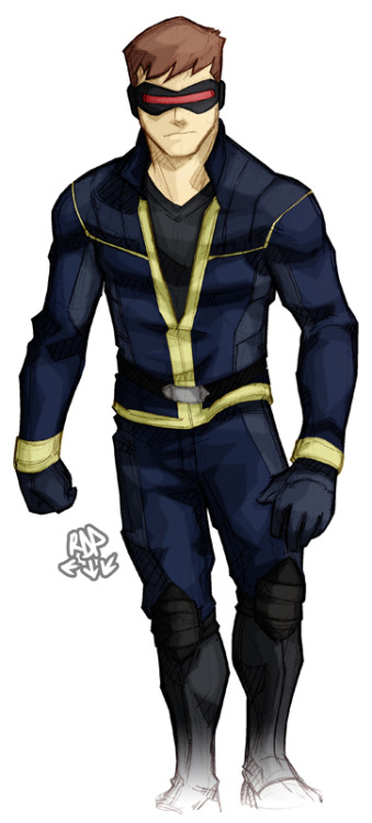 samuraiblack:  scott summers by ~samuraiblack an attempt on the anime design. could be worse. if you havent seen it: http://files.g4tv.com/rimg_606x0/ImageDb3/264498_l/.jpg
