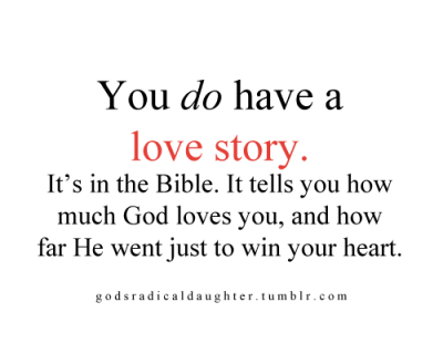 YOU HAVE A LOVE STORY. ♥