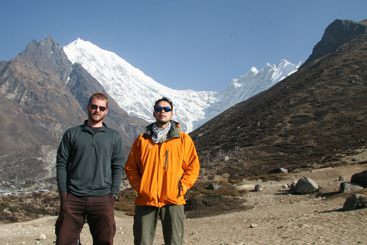 4 years ago this month, Mitch and I hiking in Nepal.