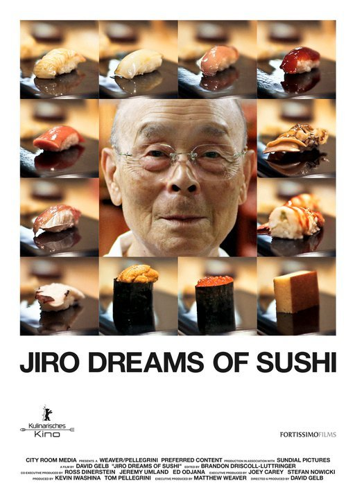"richardrushfield:  MOVIES IN REVIEW: JIRO DREAMS OF SUSHI At the beginning of this little documentary, Jiro, the ancient sushi maker who is its subject says something that when I thought back upon it, just stopped me dead in my tracks thinking about how many millions of miles away modern culture has come from this concept. He says, I'm paraphrasing from my memory, that life is about loving what you do for work and getting better and better at it, and becoming truly skilled at what you do and always improving is the key to living an honorable life. There pretty much is not a single word of the above statement that guides any part of American culture today.  The idea that work is about doing something you love and improving yourself at it, rather than extracting the maximum possible lucre from society. The idea that being skilled at what you do and improving yourself has any value other than its commercial value…that we can be judged by how skilled we are at our craft rather than how high up the ladder we've climbed…that we all have room to constantly improve and are not just born special and gifted and entitled to have Michelin stars or fancy bylines rained down on us…the idea that ""honor"" is a thing…Not to get even more maudlin about it, but this is a blog about the end of civilization.  Nothing in his statement above would have been remotely controversial even 25 years ago.  Now not one word in his statement above is remotely an operating principle of our society. Anyway, besides that, Jiro is a really beautiful little documentary about a man who has spent his life running a little sushi counter in a train station in Tokyo doing the same very small number of limited tasks and becoming the best in the world at each of them.  I don't know if there's any craft in the world as precise and ephemeral as sushi making and if this portrait of Jiro and the many people who give their lives to it doesn't make you feel completely inadequate, then I don't want to eat at your restaurant.  Or to read your blog. I'm generally against most big screen documentaries because they mostly belong on the small screen.  I've spent too many nights in theaters seeing talking heads interspersed with sped-up photography and mock-Phillip Glass music signifying dire warnings that the entire planet is likely to be unsustainable for human life before we leave the theater.  Perhaps fine sentiments. Perhaps.  But they belong on TV if anywhere.  Jiro captures the beauty of the sushi business and the strange isolation it brings in a way that demands to be seen in a theater.  So go do that.  A beautiful film. Eight stars.  Nine."