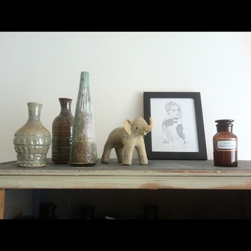 A candid snap of some of the trinkets in our office… (Taken with instagram)