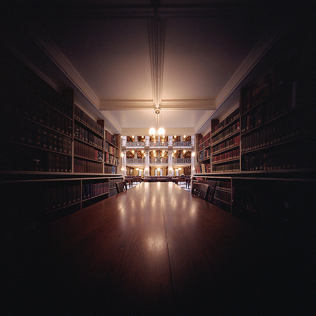Among the Books… (Pinhole Photograph) by integrity_of_light on Flickr.
