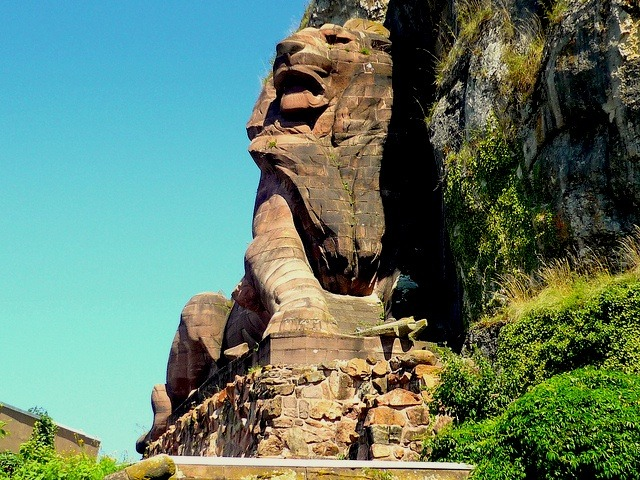 | ♕ |  The Lion of Belfort - sculpted by Bartholdi  | by © French Moments