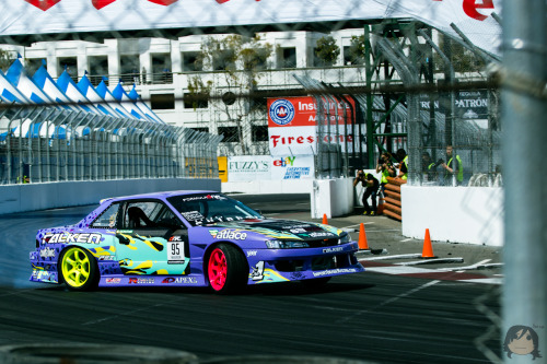 [Apr 6 2012] Walker Wilkerson and his Fatlace S13 at Formula D: Streets of Long Beach-Photo by me