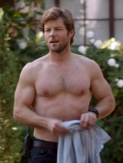"Just in case, no one was aware Jamie Bamber was gloriously shirtless in ""Body of Proof"" ep 2x17 :p"