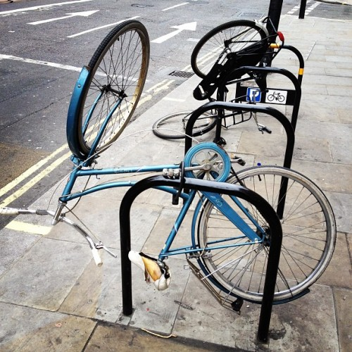 Overnight bikes @Picadilly Circus… (Taken with instagram)