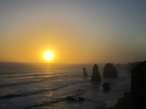 Yay for road trip! Sunset at the 12 Apostles