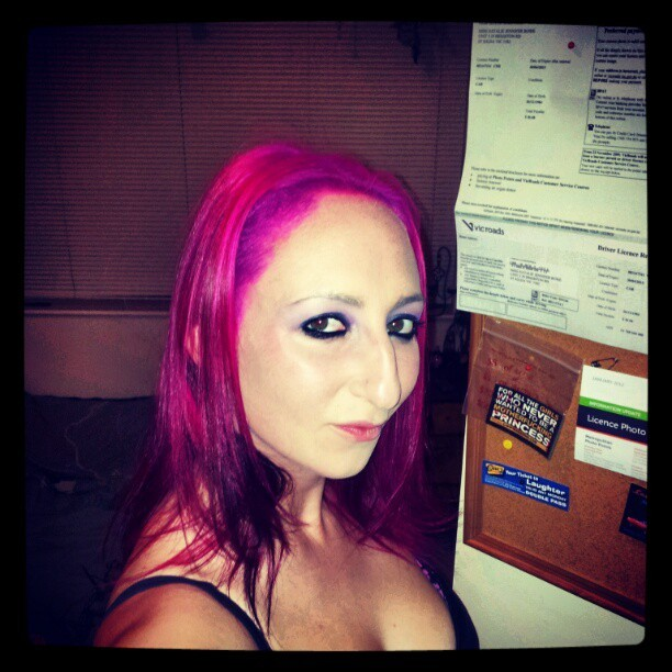 Got my hair done last night #pinkhair #specialeffects  (Taken with instagram)