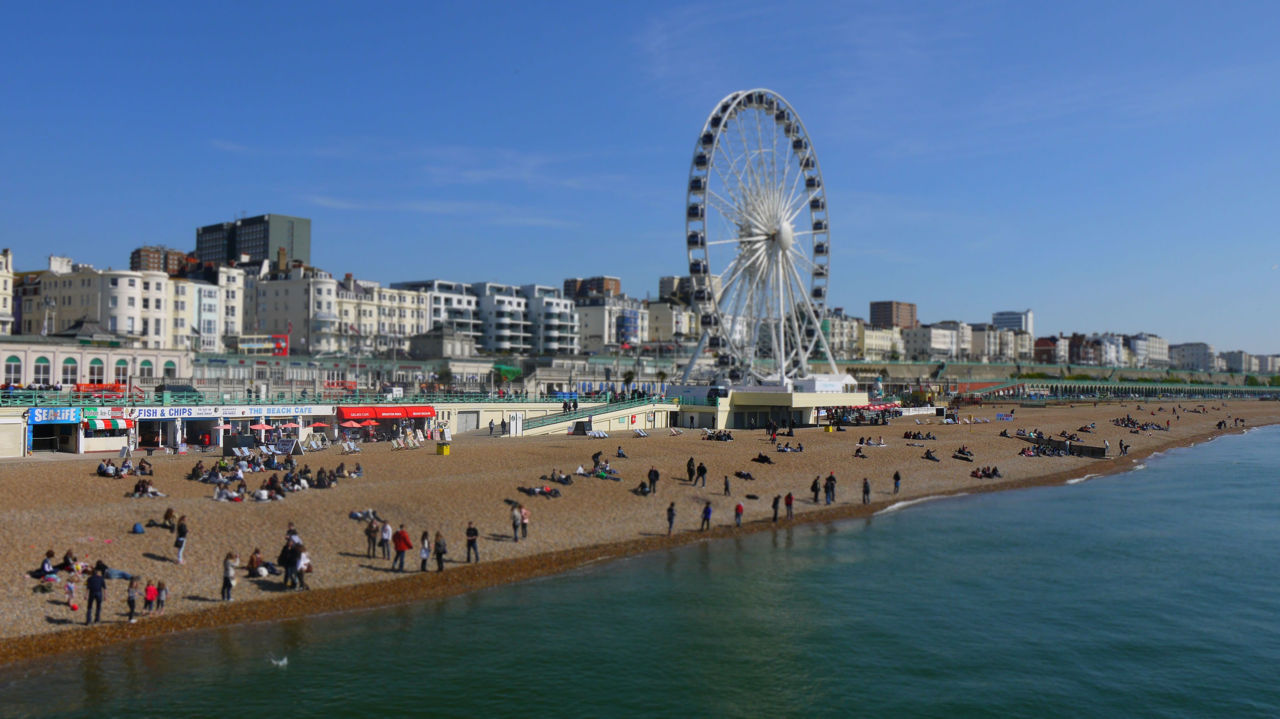 La playa de Brighton - Brighton beach